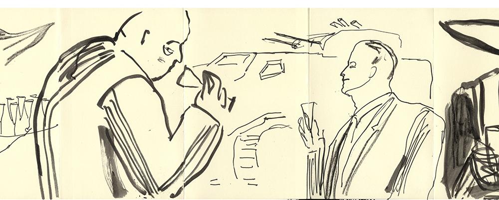 Jill Gibbon »Sketchbook 5, Eurosatory Arms Fair, Paris 2016«