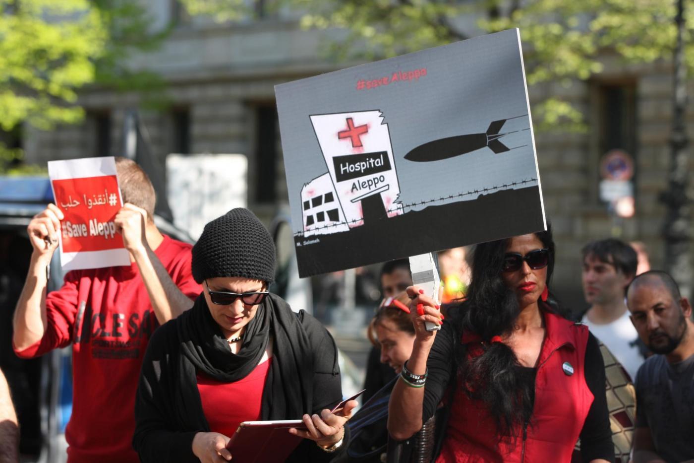 Aleppo-Demonstration Berlin, 2016 (Foto: Thomas Rassloff)