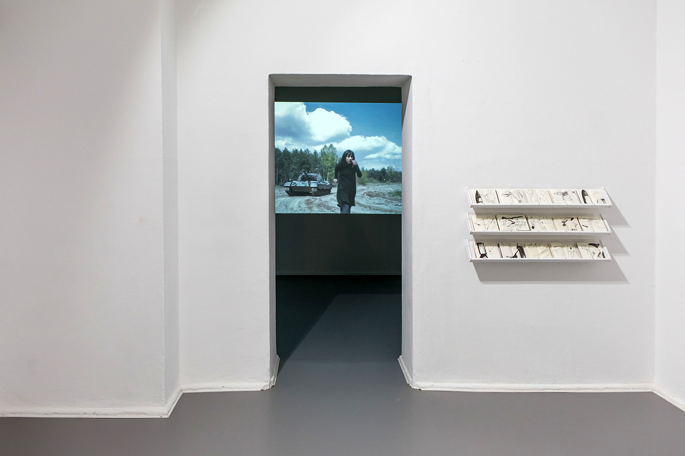 Ausstellungsansicht »Up in Arms«, Kunstraum Kreuzberg/Bethanien 2019, Photo: Julian van Dieken